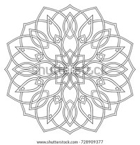 Simple Geometric Mandala Oriental Ornament Design Stock ...