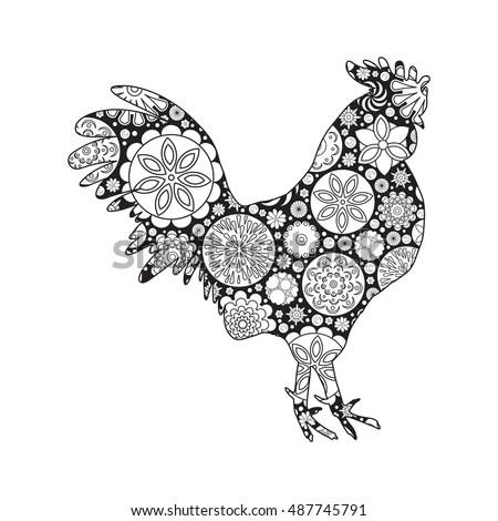 Vector Doodle Pattern Bird On Doodle Stock Vector
