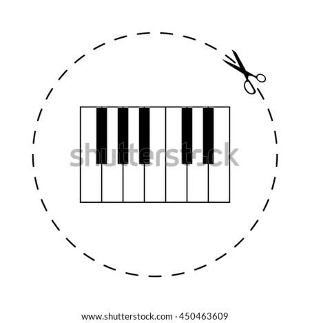 Illustration Piano Keys Music Notes Hand Stock