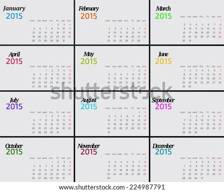 Calendar_horizantal 2011 Seasons Every Month Calendar