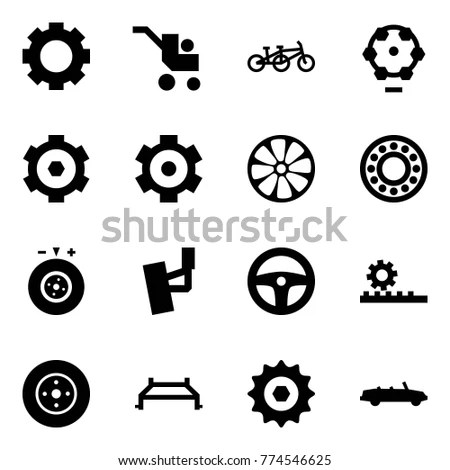 Origami Style Icon Set Magnifier Vector Stock Vector