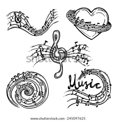 Music Notes Sketch Stock Images, Royalty-Free Images