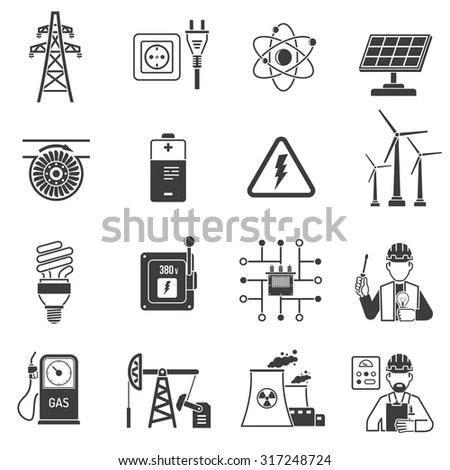 Oil Gas Industry Energy Power Production Stock Vector