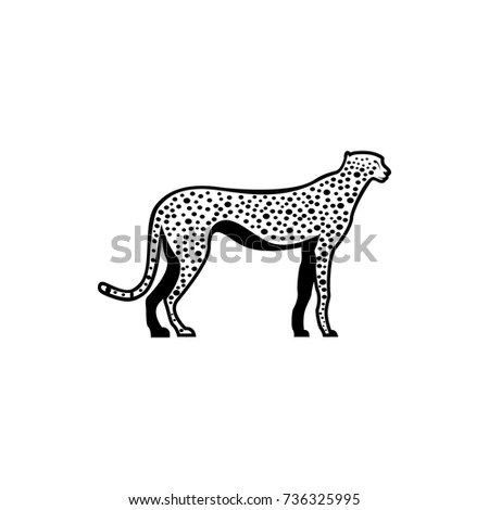 Snow Leopard Vector Illustration Logo Sign Stock Vector