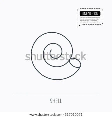 Outline shell Stock Photos, Illustrations, and Vector Art