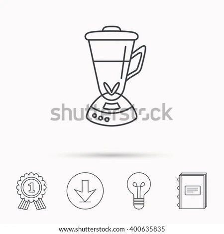 Mixer Icon Blender Sign Kitchen Electric Stock Vector