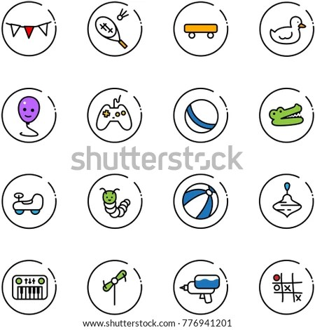 Set Buttons Signs Spa Wellness Fitness Stock Vector