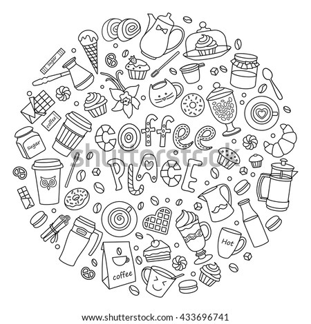 House Home Cleaning Themed Doodle Set Stock Vector
