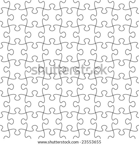 Vector Seamless Transparent Puzzle Pattern Tile Stock