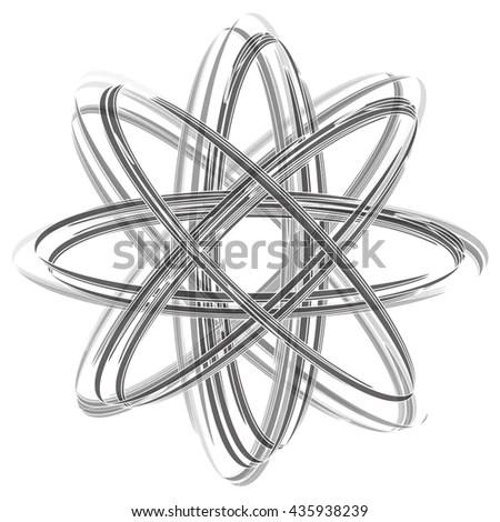 Shining Atom Vector On White Background Stock Vector