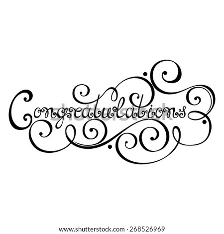 Congratulations Inscription, Holiday Invitation, Wedding