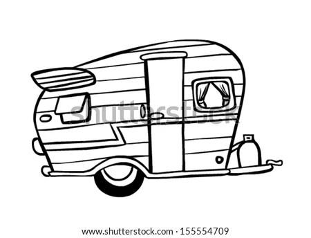 Vintage Camper Motorhome, Vintage, Free Engine Image For