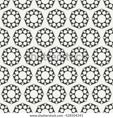 Beautiful Seamless Ornamental Tile Background Vector Stock