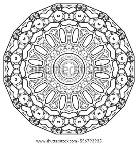 Illustration Circular Pattern Stock Illustration 56933422
