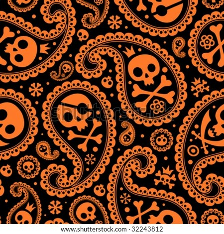 halloween skull stock