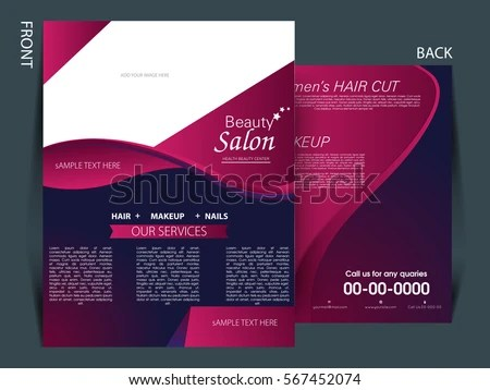 Colorful Background Flyer Salon Industry Stock Vector