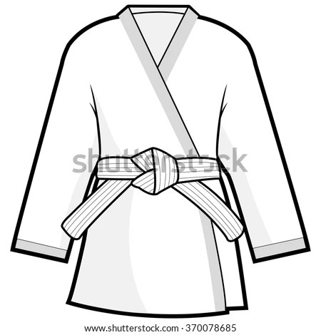 Martial Arts Kimono Jacket Stock Vector Illustration Of