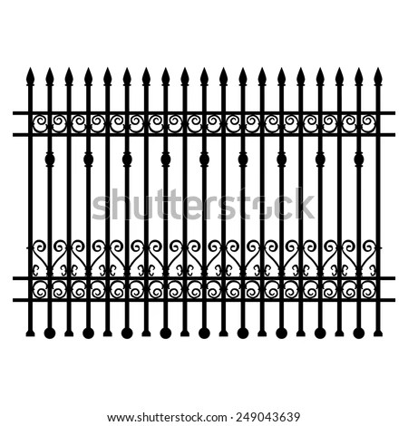 Wrought Iron Modular Railings Fences Stock Vector