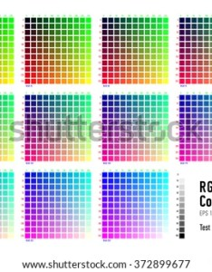 Rgb press color chart also stock vector royalty free rh shutterstock