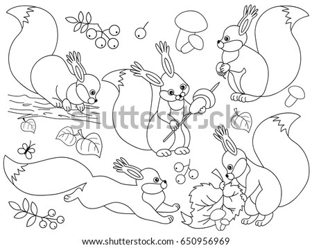 Squirrel Outline Stock Images, Royalty-Free Images