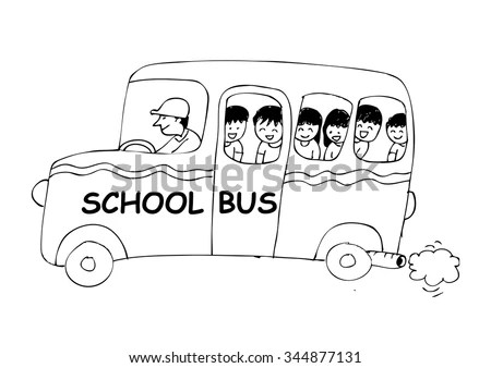 School Bus Outline Stock Images, Royalty-Free Images