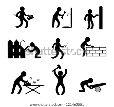 Children Recreational Facilities Activities Pictogram
