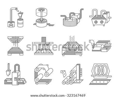 Set Flat Color Style Vector Icons Stock Vector 321167996