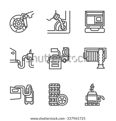 Vector Icon Water Pump Station Water Stock Vector