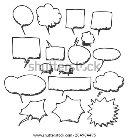 Comic Speech Bubbles Set Stock Illustration 100423513