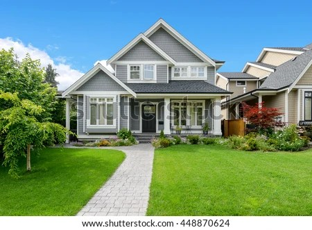 luxury house beautiful landscaping