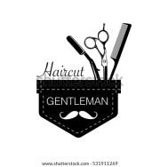logo barbershop hair salon hipster