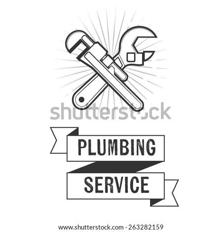 Set Plumbing Tools Vector Illustration Stock Vector