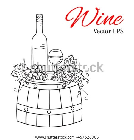 Grape Outline Stock Images, Royalty-Free Images & Vectors