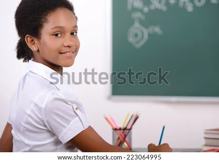 African American Student Doing Math Problems On The