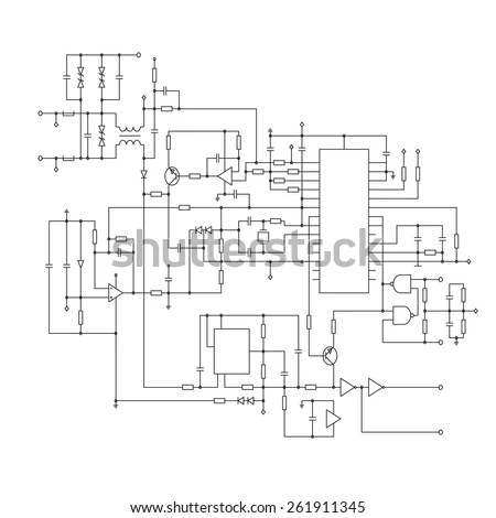 Electric Circuit Diagram Stock Images, Royalty-Free Images