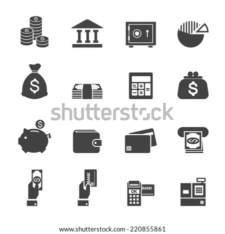 Immagine vettoriale stock a tema Money Finance Icon