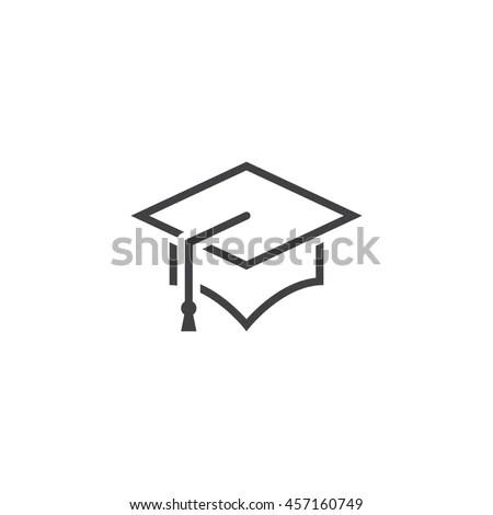 Educator Graduation Icon Educator Graduation Icon Stock