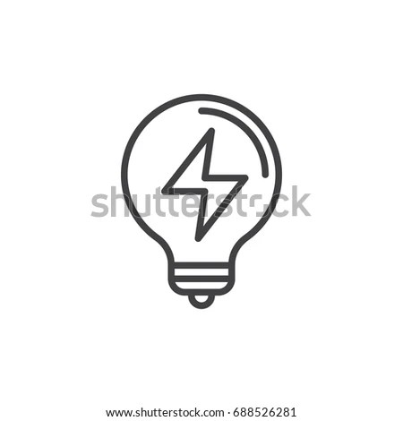 Light Bulb Icon Vector Solid Illustration Stock Vector