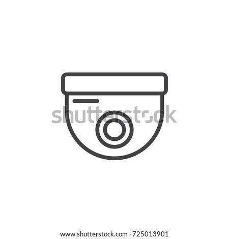 Surveillance Dome Camera Icon Vector Filled Stock Vector