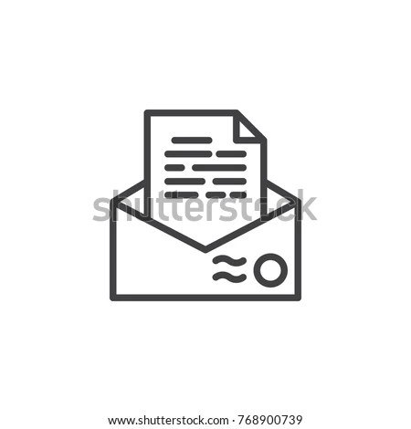 Line Icons Set Resume Cv Outline Stock Vector 502712959