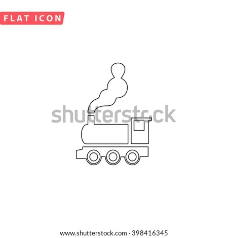 Steam Train Outline Stock Images, Royalty-Free Images