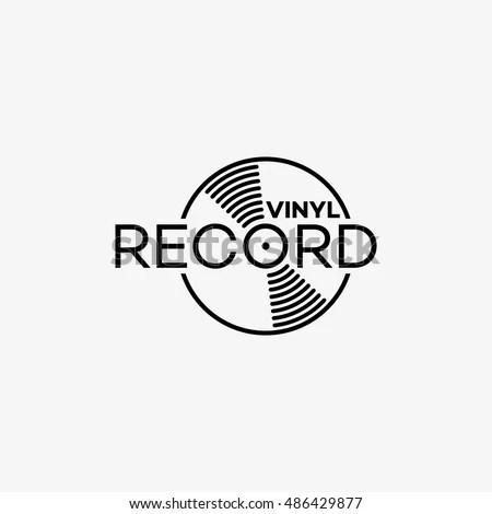 Vinyl Record Logo Template Design Vector Stock Vector