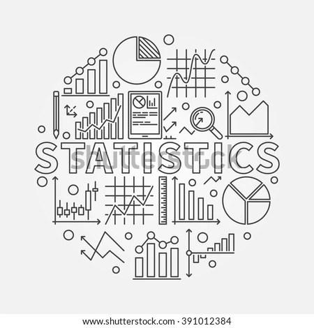 Statistics Subject Illustration Vector Round Symbol Stock