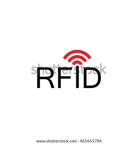 Rfid Logo Radiofrequency Identification Icon Vector Stock