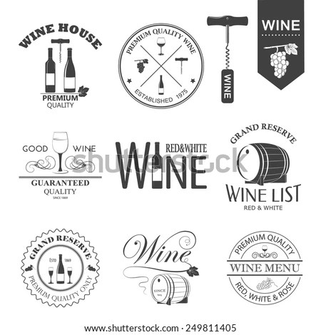 Wine Logo Stock Images, Royalty-Free Images & Vectors