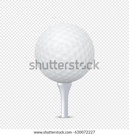 Vector White Realistic Golf Ball Template Stock Vector