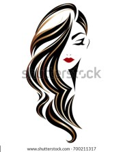 illustration woman long hair style