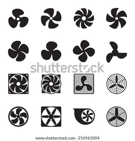 Fan Icons Vector Illustration Stock Vector (Royalty Free