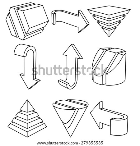 Geometric Shapes 3d Stock Images, Royalty-Free Images