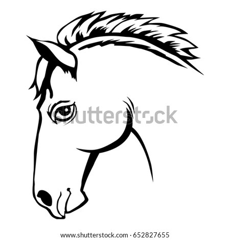 Horse Stencil Stock-billeder, royaltyfri billeder og